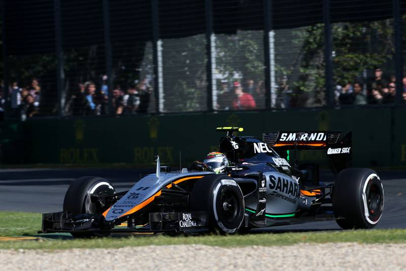 Sergio Perez (MEX) Sahara Force India F1 VJM08.