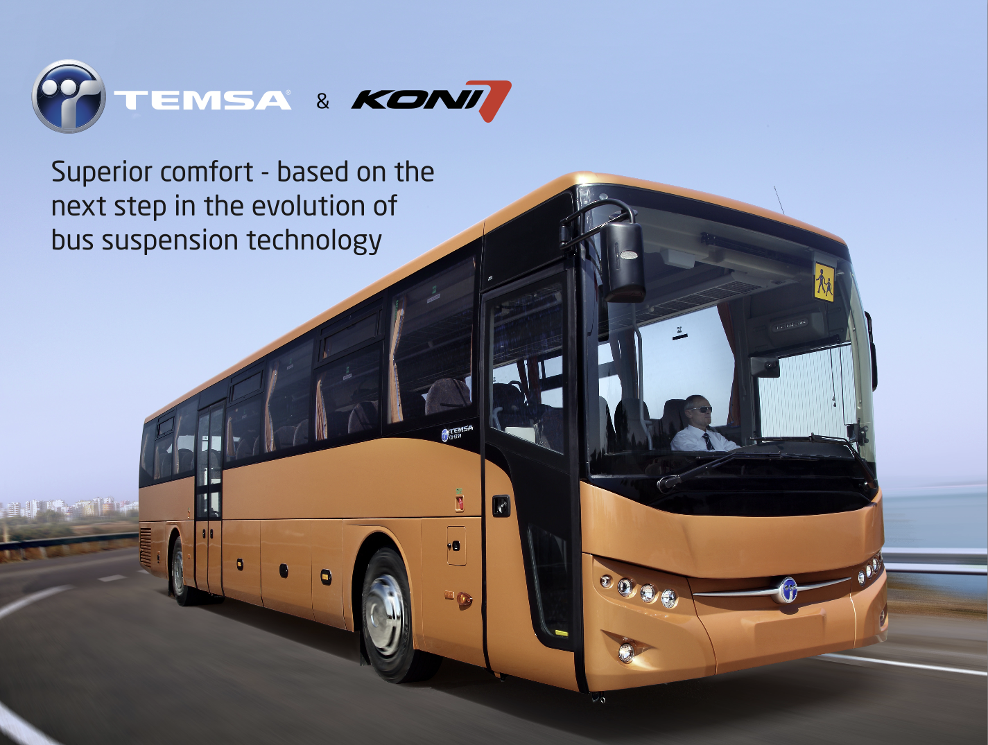 The New KONI EVO 99 Shock Absorber Technology Contributes To High Comfort Level Of Our LD Bus Series Even Under Rough Road Conditions Has